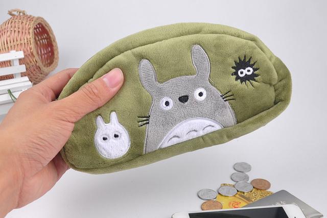 Totoro with Friends Plush Coin Purse Pencil Bag