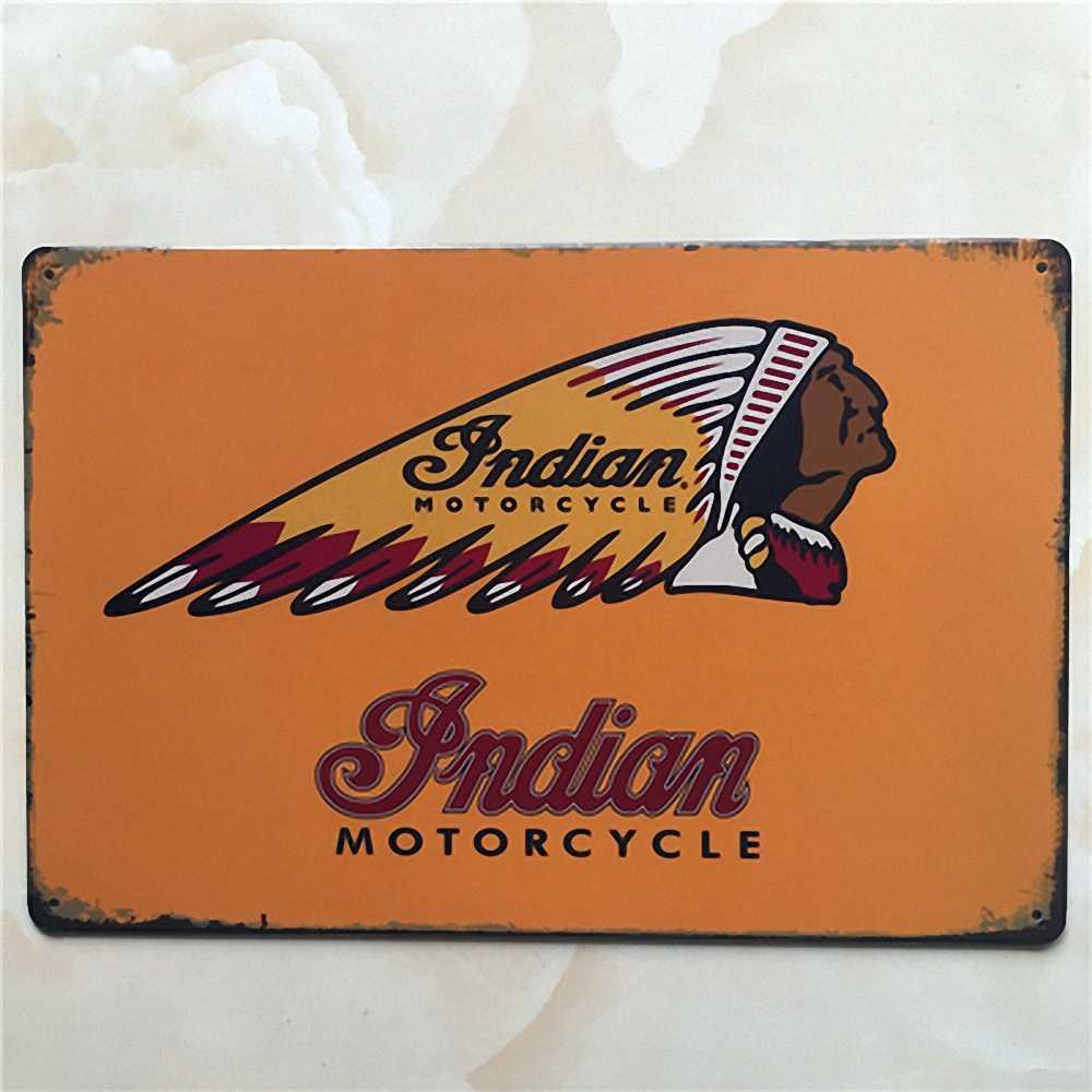 Vintage Tin Signs Retro Motorcycle Bus