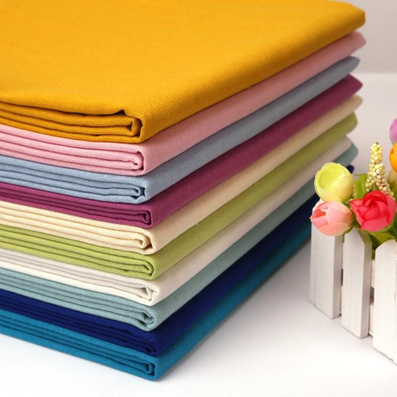Thin Linen Cotton Cloth Fabric DIY Embroidery Handcraft Bottom Material Curtain Fabrics Home Decoration