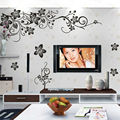 hot sellings classical black flower wall art zooyoo027s living room floral wall stickers home decorations plant wall decals