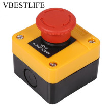цена на 1Pc 660V Emergency Switch 10A Plastic Shell Red Sign Emergency Stop Mushroom Push Button Switch New