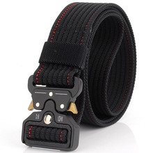 Mens Belt Tactical Military Canvas Outdoor High Quality Army Camouflage Waistband Alloy Buckle Training Equipment