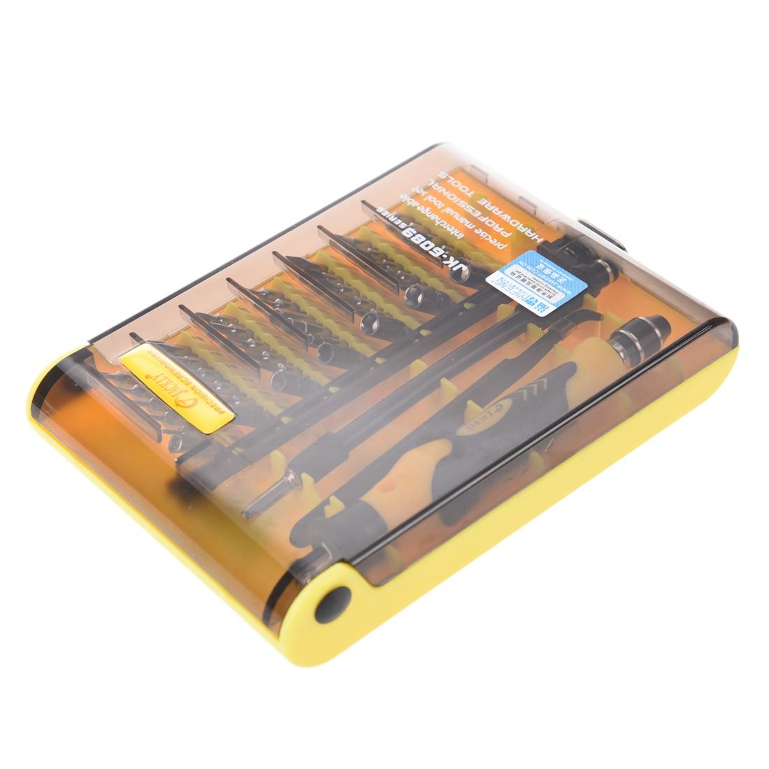 JACKLY 45-in-1 Professional Hardware Screw Driver Tool Kit JK-6089B by lodestar professional ceramic slot screw driver 0 4 x 0 9mm