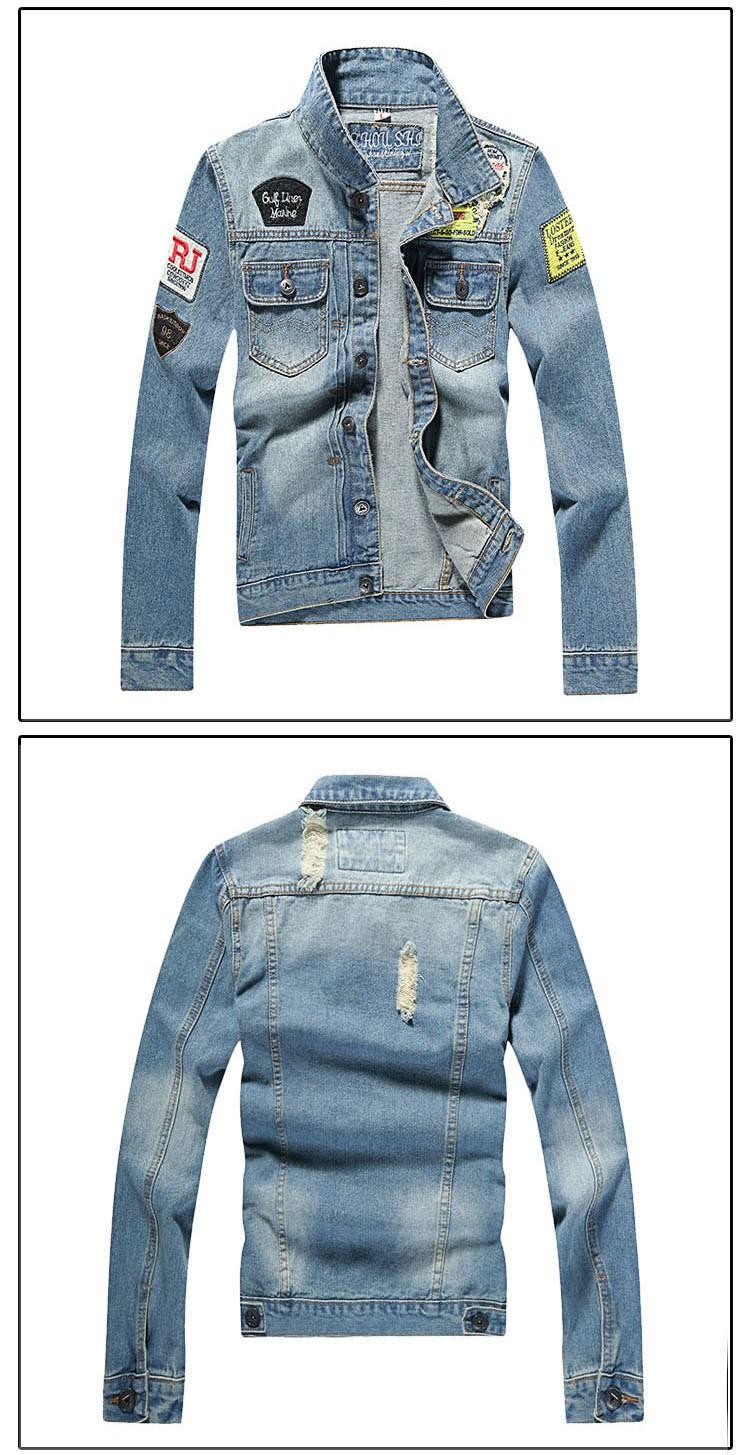 Men's Denim Jacket high quality fashion Jeans Jackets Slim fit casual streetwear Vintage Mens jean clothing Plus Size M-5XL (9)