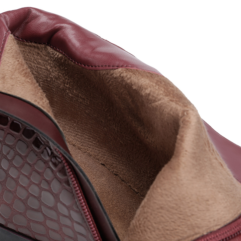 Kobiety prawdziwej skóry klinu pięty kostki buty wszechświat platformy ciepłe pluszowe zwiększona wewnętrzna buty na wysokim obcasie buty zimowe C201 w Buty do kostki od Buty na  Grupa 3