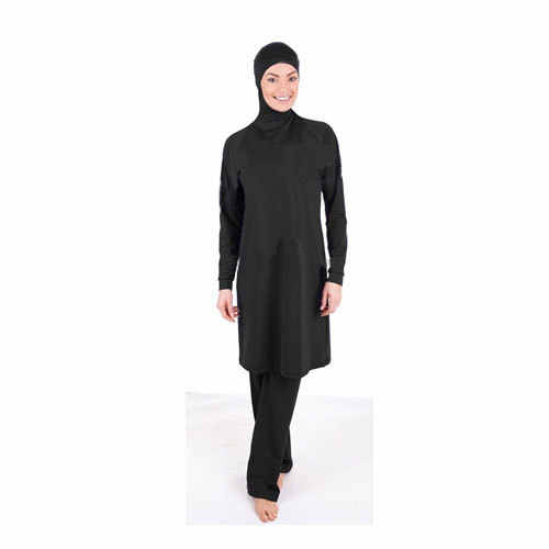 Make Difference Brand Solid Black Modest Arab Islamic Swimwear Women Girls  Full Covered 2 Pieces Hijab d64f24bc4def