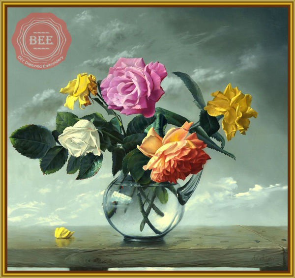 DIY Flower yellow pink gl vase with water Square Drill Diamond ... on flower butterfly painting, flower wreath painting, flower window painting, bottle flower painting, flower bed painting, flower still life oil paintings, flower table painting, frame painting, flower mirror painting, flower box painting, flower vases with flowers, flower light painting, flower oil paintings christmas, candle painting, bird-and-flower painting, flower white painting, flower bowl painting, modern palette knife painting, flower stand painting, flower girl painting,