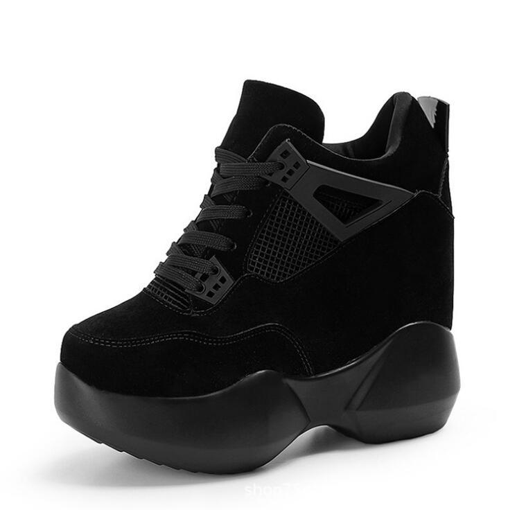 Г., Весенняя женская модная повседневная обувь на платформе женские кроссовки на толстой подошве, белые туфли дышащие женские парусиновые туфли на танкетке - Цвет: Color 5