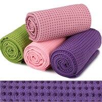 Yoga Towel Skidless Towel With Silicone Bottom Good Grip Yoga Mat Absorbent Anti-Slip Eco-Friendly Lightweight Microfiber Towel