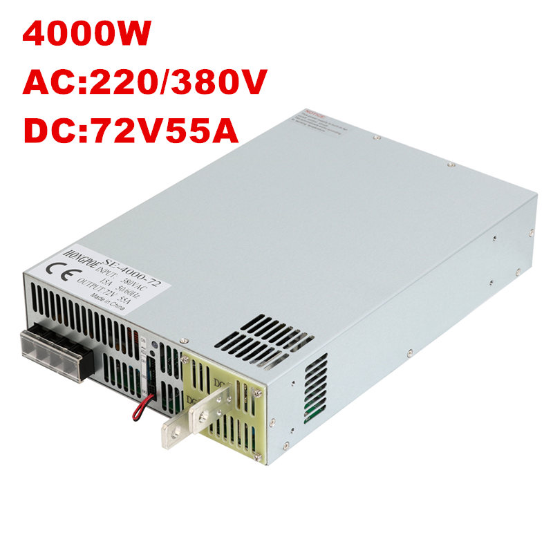 4000W 72V 55.5A DC 0-72v power supply 72V 55.5A AC-DC High-Power PSU 0-5V analog signal control SE-4000-72