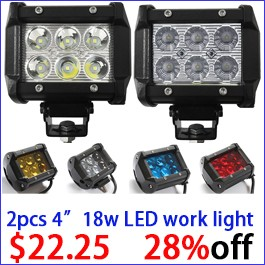 2pcs 18w led work light