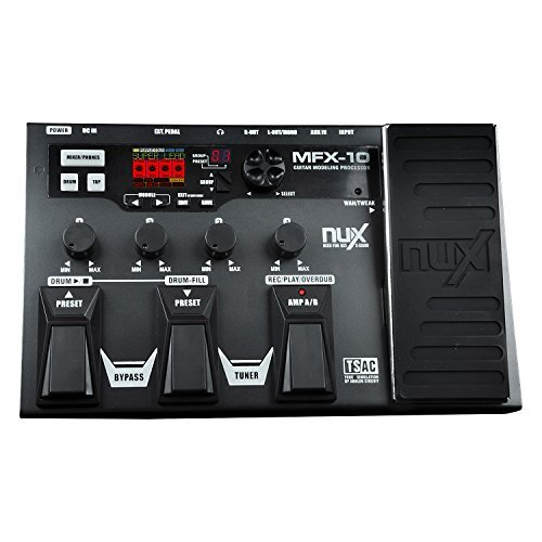 NUX MFX-10 Modeling Guitar Multi-Effects Processor Effects 55 Models 72 Presets with looper and Built-in Drum Machine database modeling and design