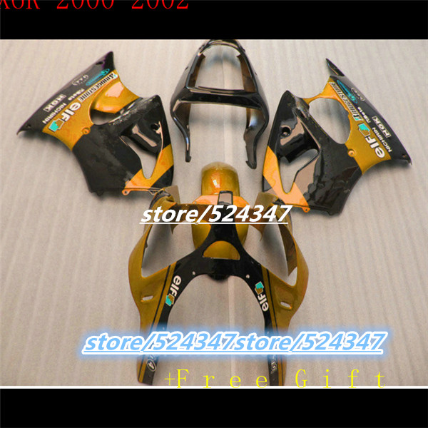 Benutzerdefinierte Motorrad Drei Freies Paket NINJA ZX6R 01 00 02 Kawasaki Orange Farbe Ist
