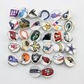 Moda NFL snap botão botão snap fit para pulseira de encaixe de vidro esportes colar 64 pçs/lote (2 peças de cada equipe)