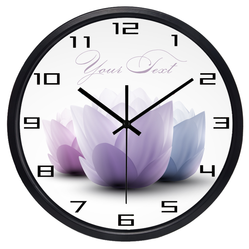 New Arrival Family Artistic Home Lotus Wall Clock