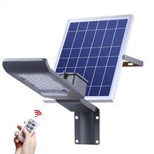 Солнечный светильник 20 Вт пульт дистанционного управления Солнечный Прожектор Светильник для Лампа уличного освещения на солнечной энергии Открытый водонепроницаемый светодиодные уличные светильники дорожная лампа