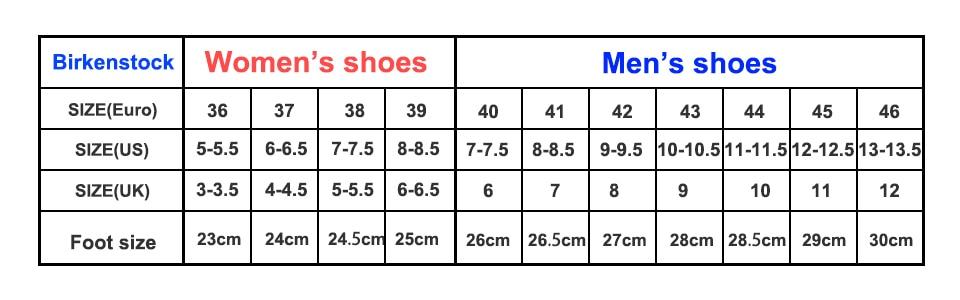 Birkenstock Shoe Size Chart.2019 Original Birkenstock Slippers Men Summer Arizona Soft Sandals Men Leather Unisex Shoes Beach Slippers 802 Cork Sandals