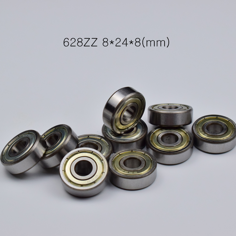628ZZ 8*24*8mm 10pieces bearings metal Sealed Miniature Mini Bearing 628 628Z chrome steel deep groove bearing image