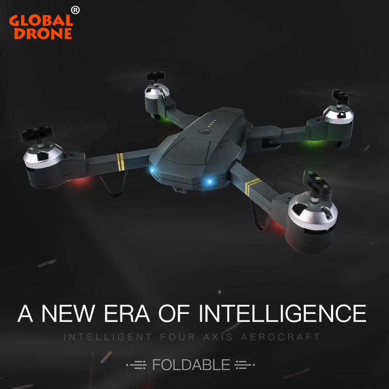 Global Drone GW58 Remote Control Quadrocopter RC Dron High Hold Helicopter Wifi FPV Pocket Foldable Drones with Camera HD feichao mini gw58 foldable selfile drone fpv 0 3mp 2 0mp hd camera pocket quadcopter remote and wifi control aircraft drone