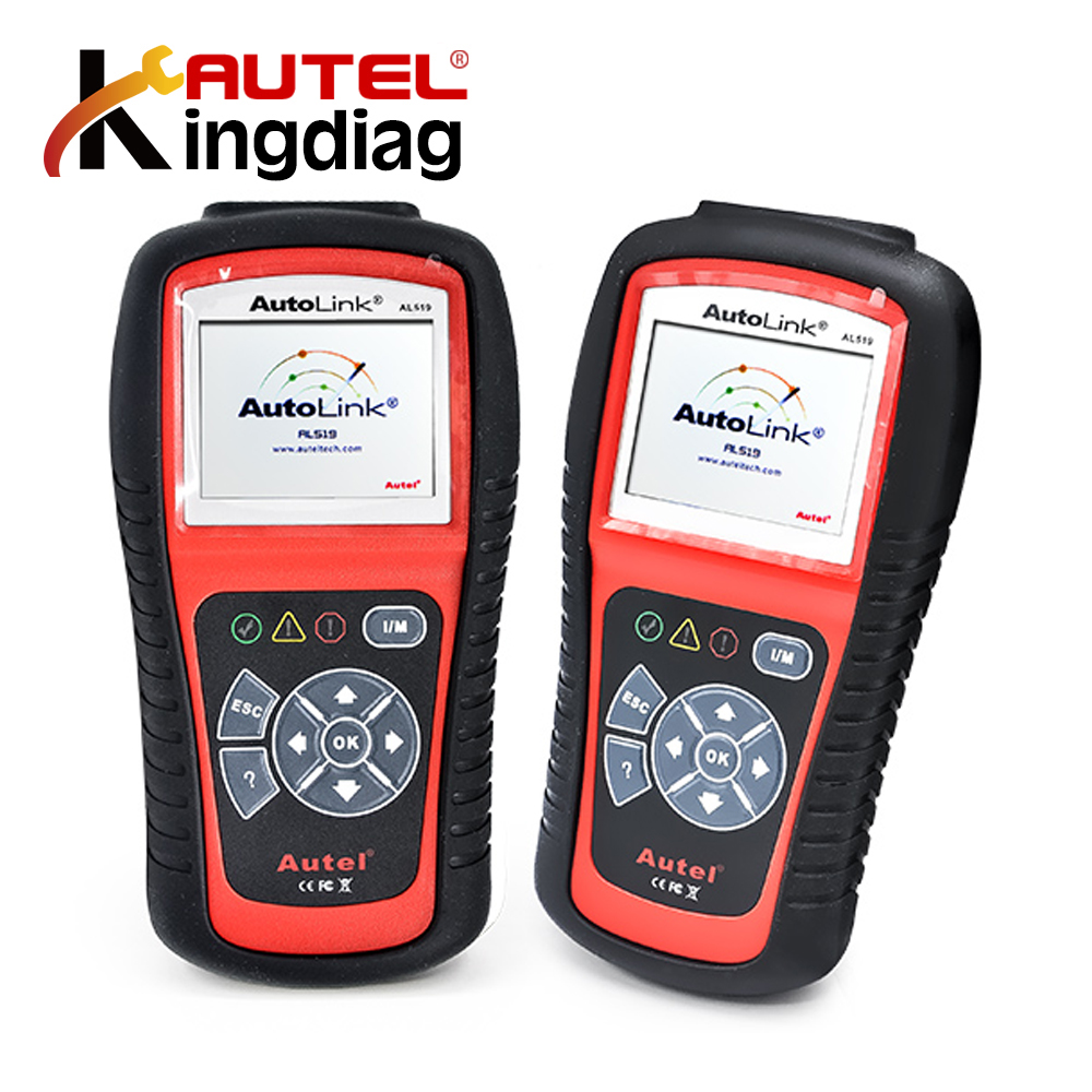 Newest AL519 100% Original Autel AutoLink AL519 Diagnostic tool Support All OBD2 CAN EOBD JOBD Escaner AUTEL Scanner AL519 100% original launch creader 519 odb obd2 scanner for obd2 can eobd jobd cars cr519 diagnostic tool free gift brake fluid tester
