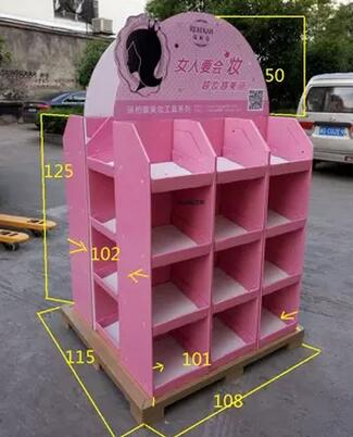 Customize Printing Cardboard Promotional Display Rack, Cardboard Display Stand, Exhibition Display