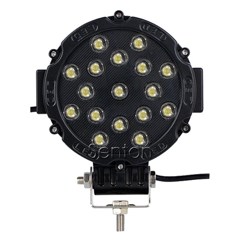 7 Inch 51W 17X 3W Round Epistar LED Work font b Light b font 12V Spot