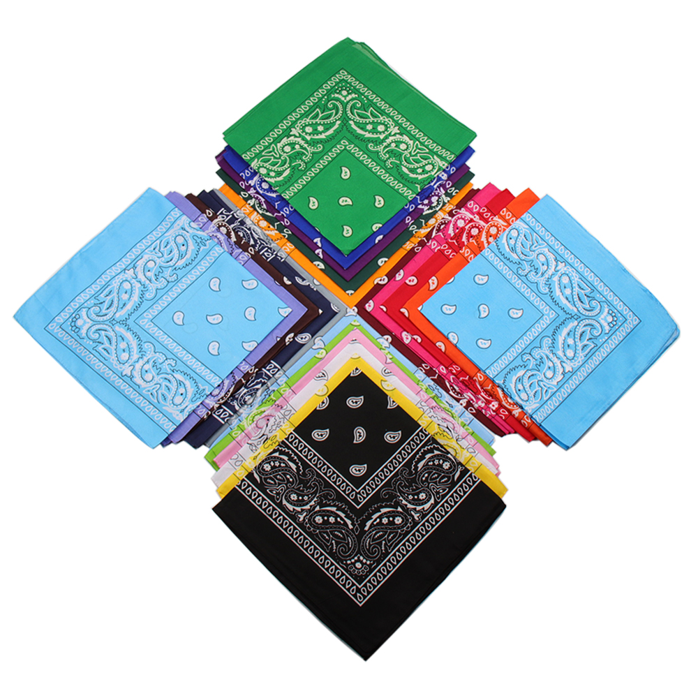 2019 Fashion Women Hair Accessories Cotton Paisley Bandana Scarf Square Female Bandanas   Headwear   Rock Cool Girls Multi Headbands