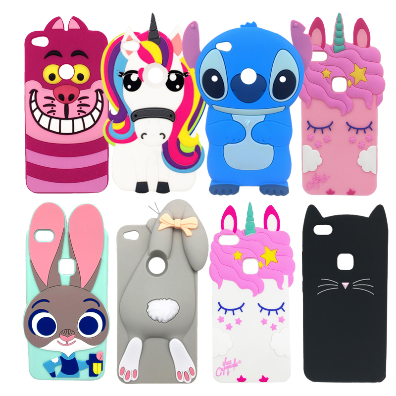 P9 Lite 2017 <font><b>Case</b></font> For Huawei P8 Lite 2017 Fundas Lovely <font><b>Anime</b></font> 3D Cat Rabbit Unicorn <font><b>Soft</b></font> Silicone Phone <font><b>Cases</b></font> <font><b>Honor</b></font> <font><b>8</b></font> Lite Coque image