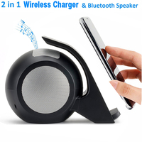 Fast Wireless Charger With NFC Function Bluetooth Speaker Qi Wireless Charger For Galaxy Note 8 S7