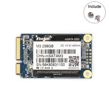 Zheino mSATA SSD M3 256GB Solid State Hard Drives SATAIII SSD Promotion For Desktop Laptop