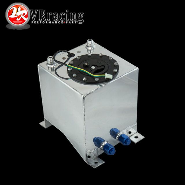 VR RACING - 10L Aluminium Fuel Surge tank mirror polish Fuel cell with foam inside/sensor VR-TK38