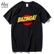 HanHent The Big Bang Theory Print T-shirt BAZINGA 2016 Sheldon Cotton Short-sleeve Casual T shirt Summer Style Cooper Tshirt Men