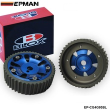 EPMAN -2Pcs Adjustable Cam Gears Timing Gear pulley kit For Mitsubishi Mirage 1993-2001 (4G93 DOHC Engines Only) EP-CG4G93BL