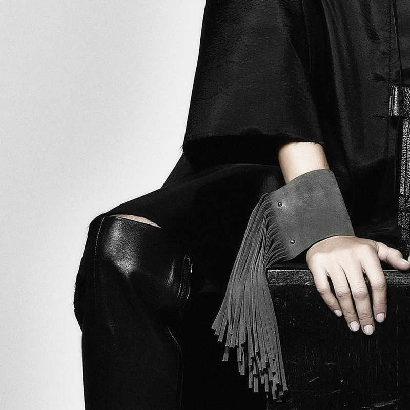 YD&YDBZ New Korean Velvet Tassel Bracelets For Women Punk Style Fashion Luxury Leather Jewelry Black Bracelets Wholesale Jewelry