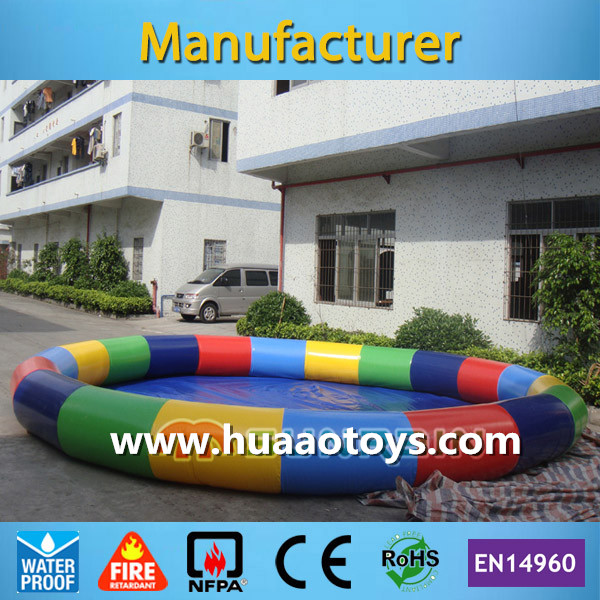 Commercial Colorful Rainbow Inflatable Swimming Pool for Adult and Kids(Free air pump+free shipping)