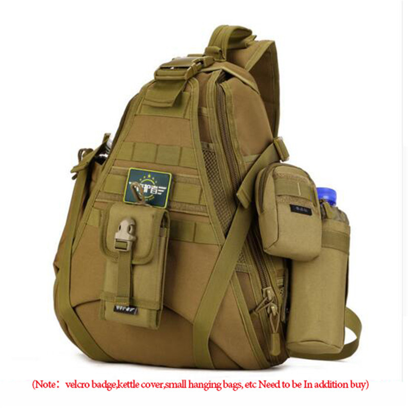 Mens bags large capacity travel one shoulder backpack 14 inch laptop female chest package bag nylon high grade military bags