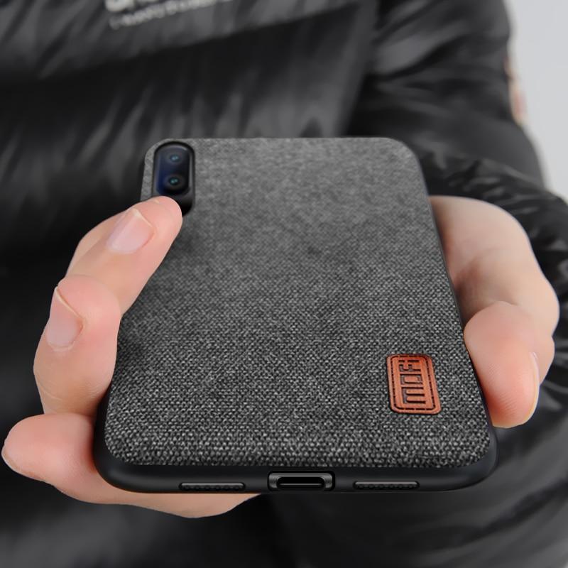Huawei P20 Pro case P10 Plus back cover fabric business men vintage capas case MOFi original Huawei P20 and P10 case