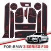 Porta slot pad Per BMW 1 Serie F20 F30 2012 2018 BMW Serie 3 F30 F31 116 118 Interno porta Pad Auto Supporti di Tazza tappetini antiscivolo su
