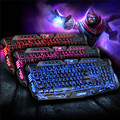 Russian Version Gaming Keyboard 3 Colors Switchable Backlight LED Novelty Light 114 Keys USB Wired Keyboard for Computer Hotsale