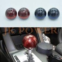 JK MUGEN Universal 6 Speed 5 Speed Red Black Blue Carbon Fiber Gear Shift Knob MT Spherical Ring Shift Knob