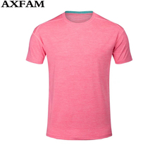 AXFAM 2017 Short sleeves Sportswear Men's Running T-shirt Quick Dry Perfect quality Fitness Running Cycling clothing  babosi8002