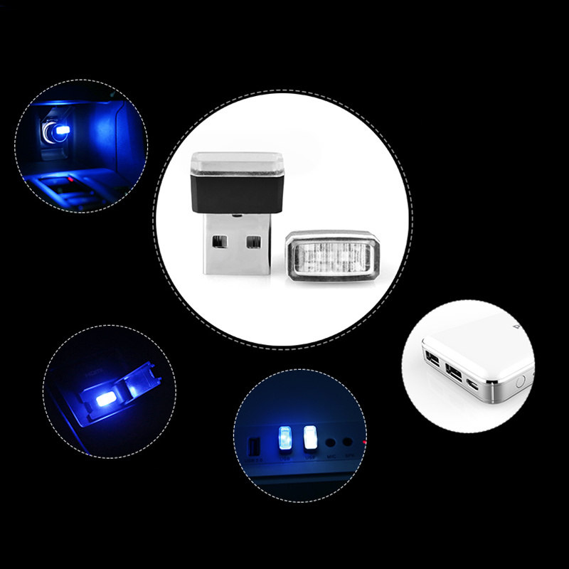 1pcs Car Styling USB Atmosphere LED Light Car Accessories For Volkswagen VW Golf 5 6 7 JETTA PASSAT B5 B6 B7 B8 MK4 MK5 MK6 in Car Stickers from Automobiles Motorcycles