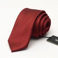 Fashion 6cm Ties for Men Silk Wedding Tie Men's Casual Necktie Skinny Brand Neckties Red Striped Microfiber Slim Ties Gift Box
