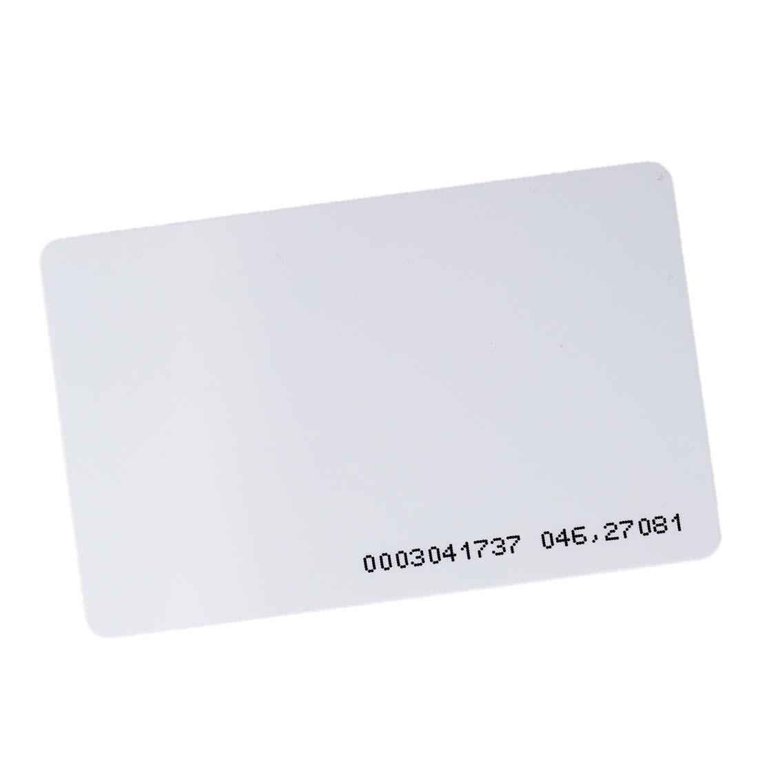 2 Packs 150 pcs ID badge access EM4100 125 kHz RFID kitavt75417unv10200 value kit advantus id badge holder chain avt75417 and universal small binder clips unv10200