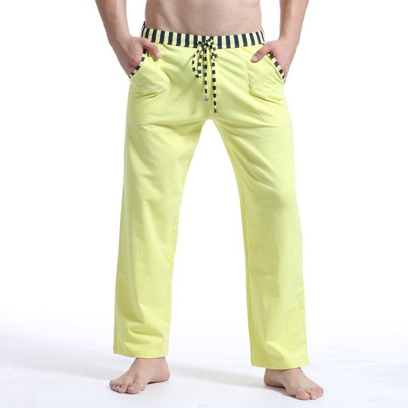 Brand Clothing WJ Man Winter Autumn Pajamas Pants Sexy Warm Cotton Mens Sleep Bottoms Fashion Sleeping Pants Man Yogo Wear 2018 ...