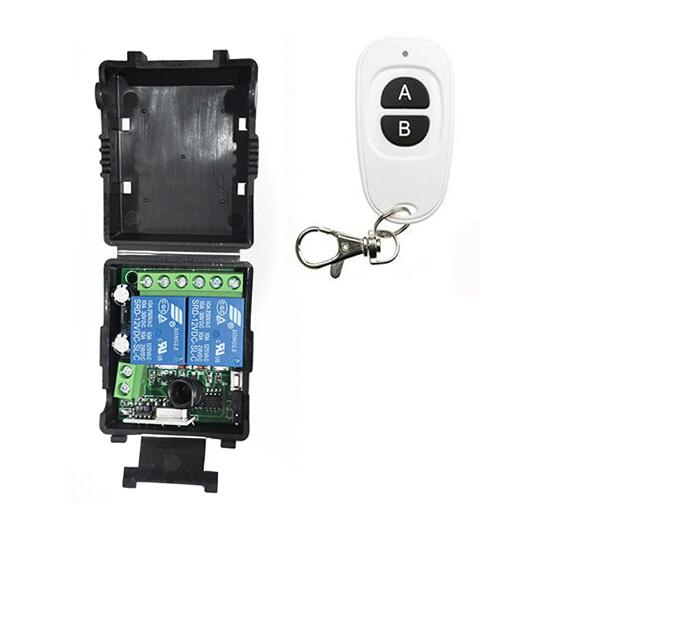 Mini Wireless RF Remote Control Light Switch 10A Relay Output Radio DC 12V 2CH Channel 2 CH Receiver Module +Transmitter