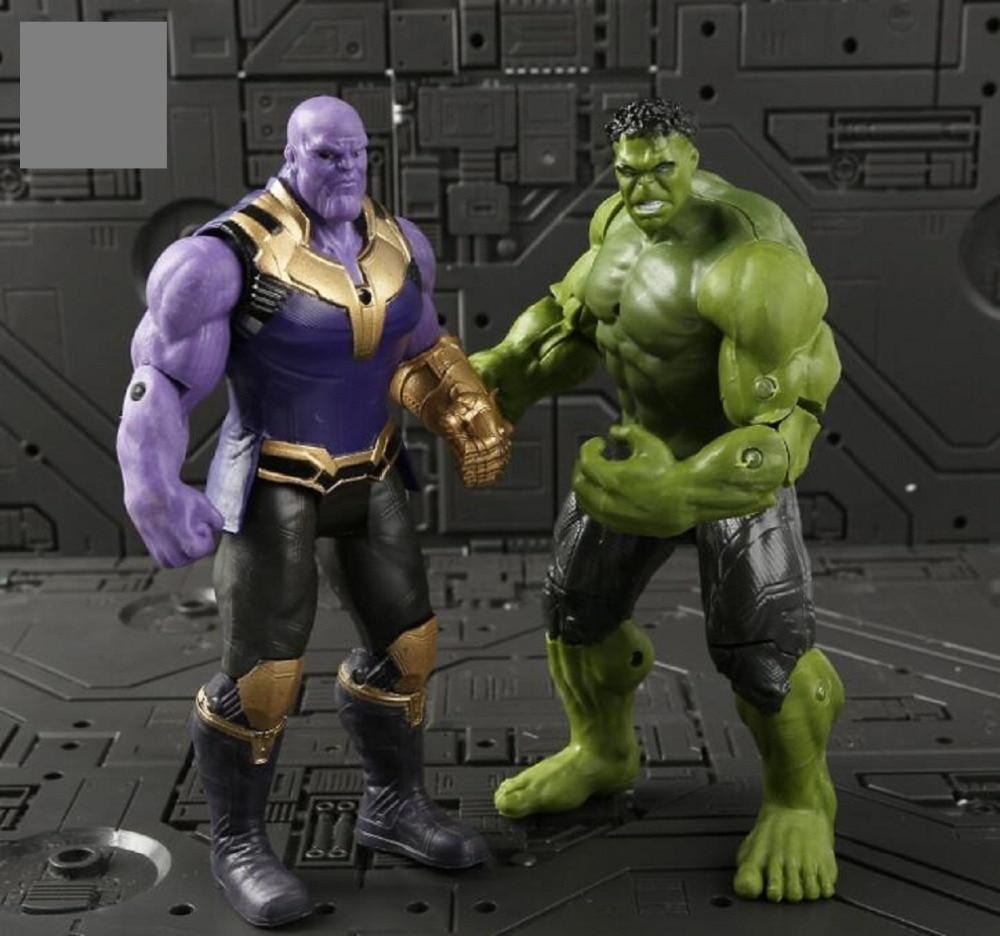Avengers 3 Infinity Guerra Hulk/Iron Man/Spiderman/Thanos/Vision/Captain America/Ant Uomo/Thor/Loki Action Figure IN PVC Set Giocattolo Per Bambini