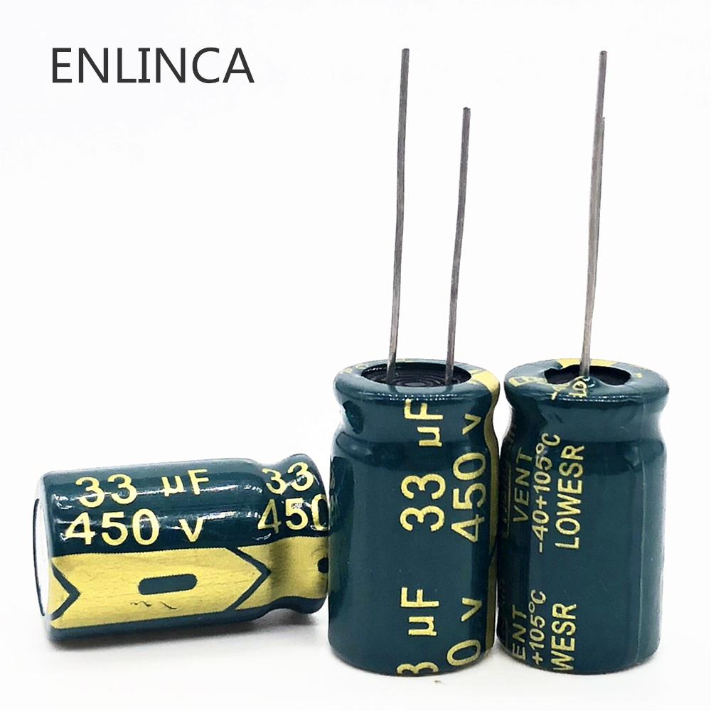 3pcs/lot 450v 33uf High Frequency Low Impedance 450v33UF Aluminum Electrolytic Capacitor Size 13*20mm 20%