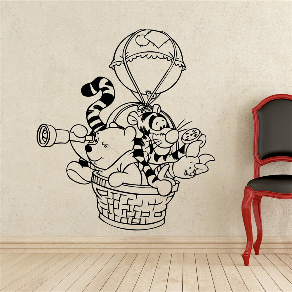 Winnie The Pooh Wall Decal Hot Air Balloon Vinyl Decal