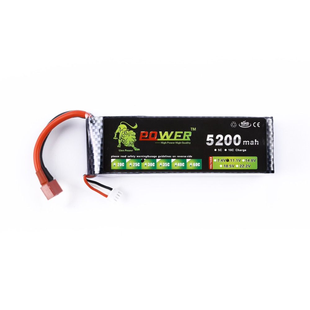 3S 11.1V 5200mah 30C with T Plug Lipo Battery Power for RC Drift RC Car RC Boat Truck цена 2017